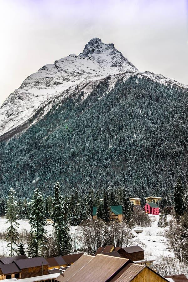 Dombay góry fotografia stock
