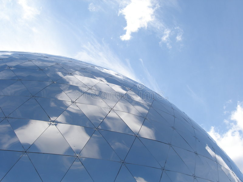 The dome. Big dome sphere building stock photos
