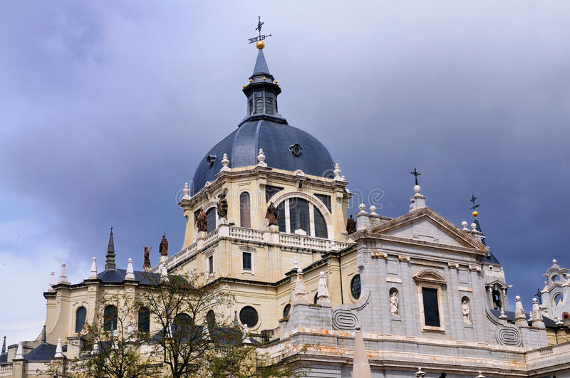 Dome of Almuneda, Madrid, Spain stock photography
