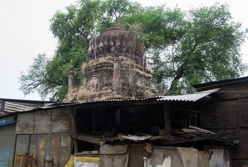 Dome of Ancient Tomb Indore India. Dome of Ancient Tomb near MG Road Police Station Indore India . This Tomb is covered with encroachments now a days stock image