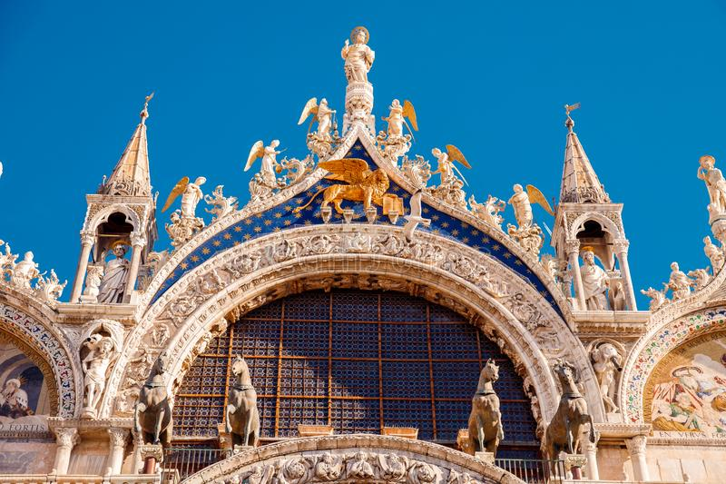 Dome of Basilica di San Marco close up. Venice, Italy stock images
