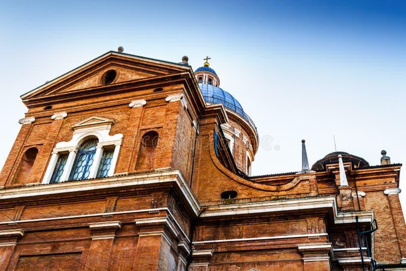 Dome of the Basilica of Reggio Emilia Cathedral royalty free stock image