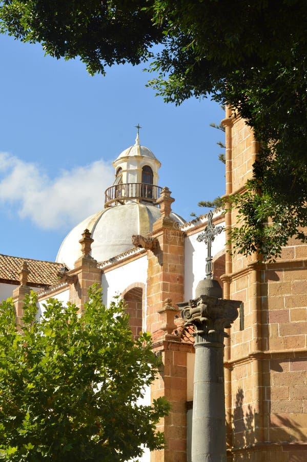 Dome of basilica.teror royalty free stock photos