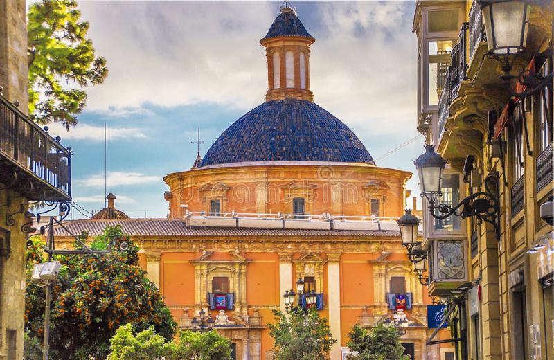 Dome of the Basilica of the Virgin Mary Defenders of the Disadvantaged.  stock image