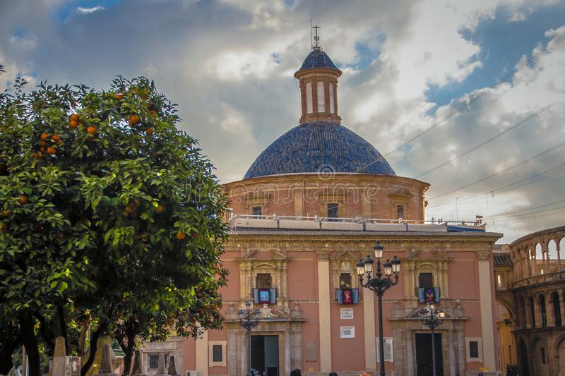 Dome of the Basilica of the Virgin Mary Defenders of the Disadvantaged.  stock photo