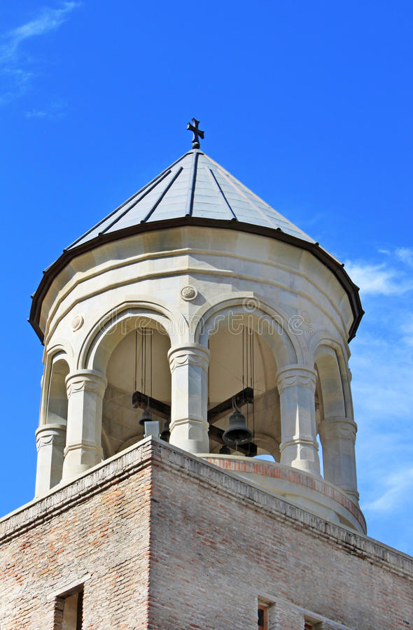 Dome of bell tower of Svetitskhoveli Cathedral royalty free stock photography