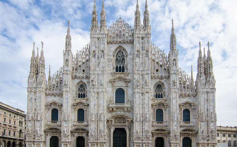 Dome cathedral in Milan. stock images