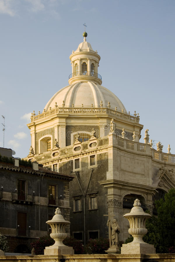 Dome of the church of the Abbey of Sant 'Agata royalty free stock images