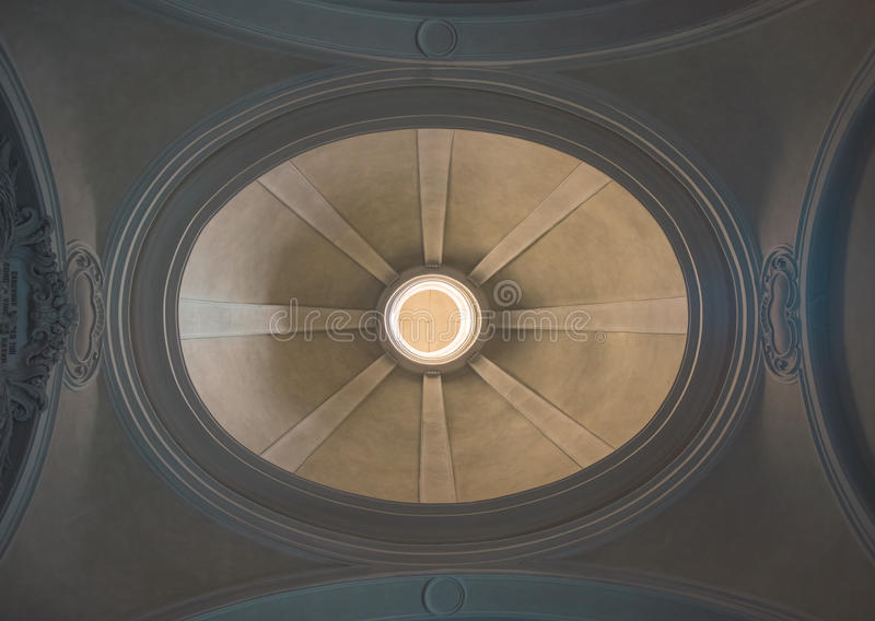 Dome of a church from below royalty free stock image