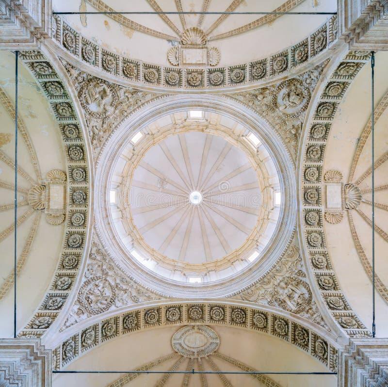 Dome in the Church of Santa Maria della Consolazione in Todi, Province of Perugia, Umbria, Italy. stock images