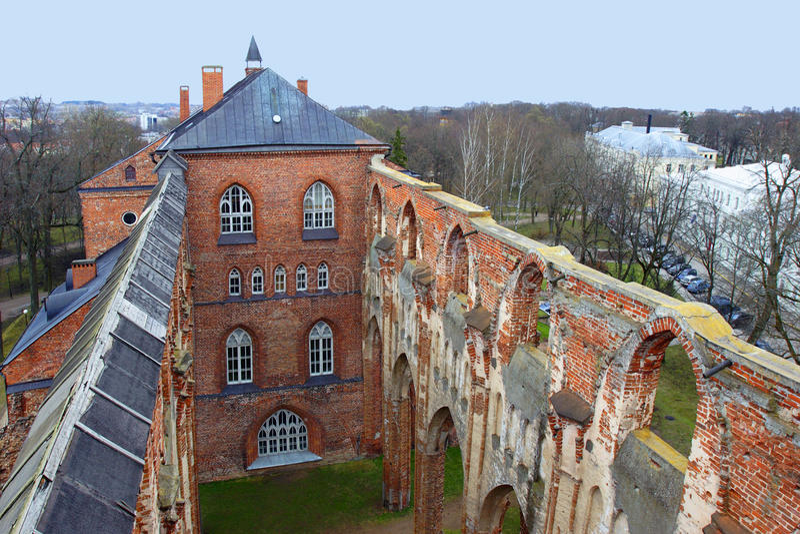 Dome Church in Tartu stock image