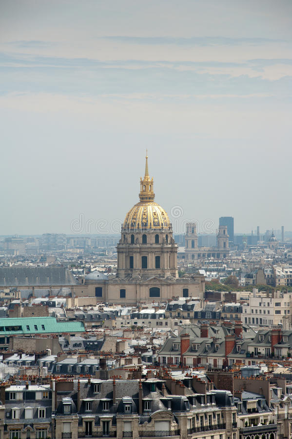 Dome des Invalides from Paris, France stock images