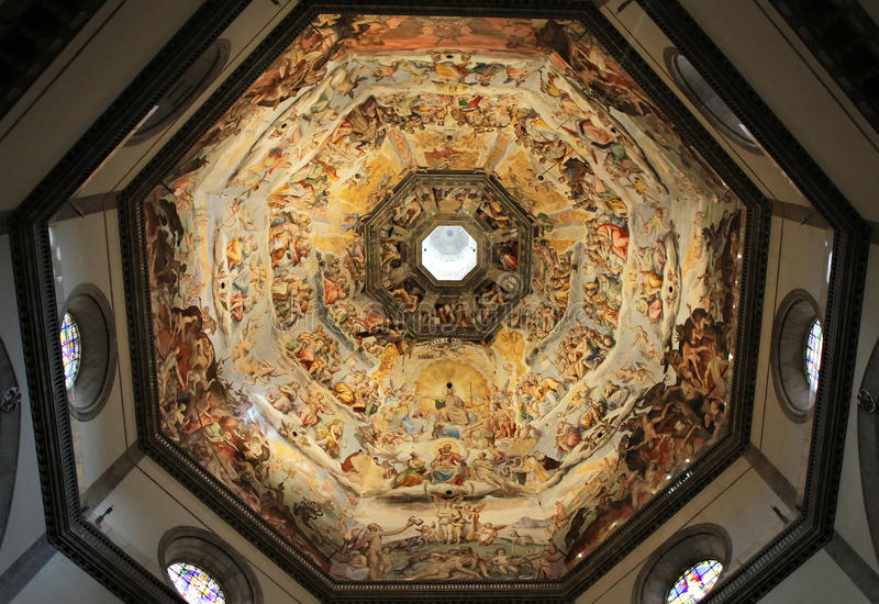 Dome of Florence cathedral royalty free stock photos