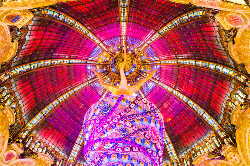 Dome at Galeries Lafayette stock photos