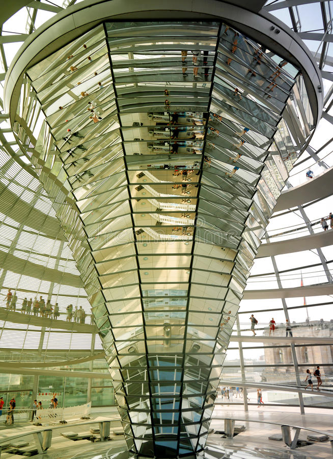 Dome of German Bundestag Reichstag building stock photography