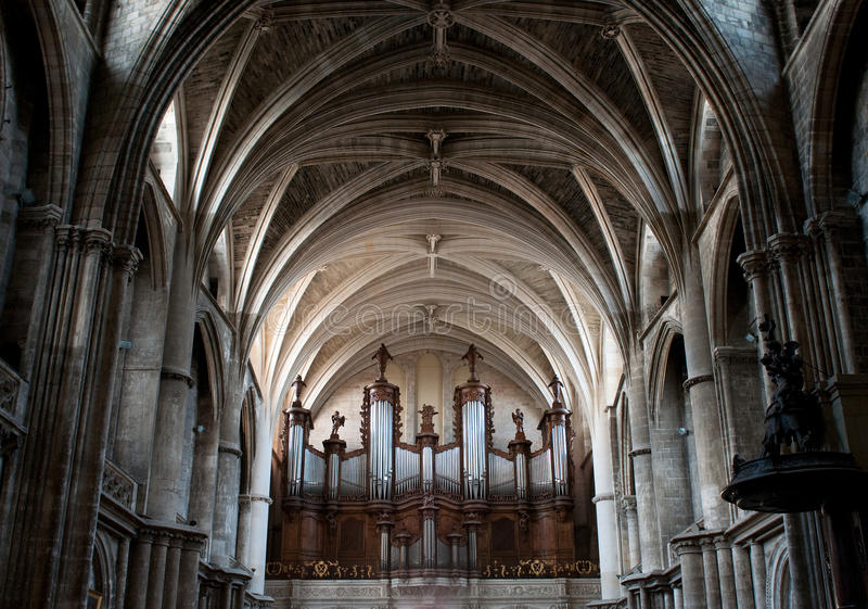 Dome of gothic cathedral royalty free stock images