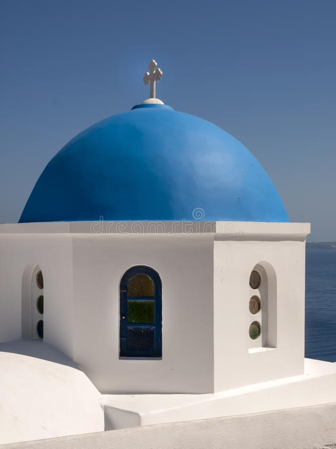 The dome of a Greek Orthodox Church. royalty free stock images