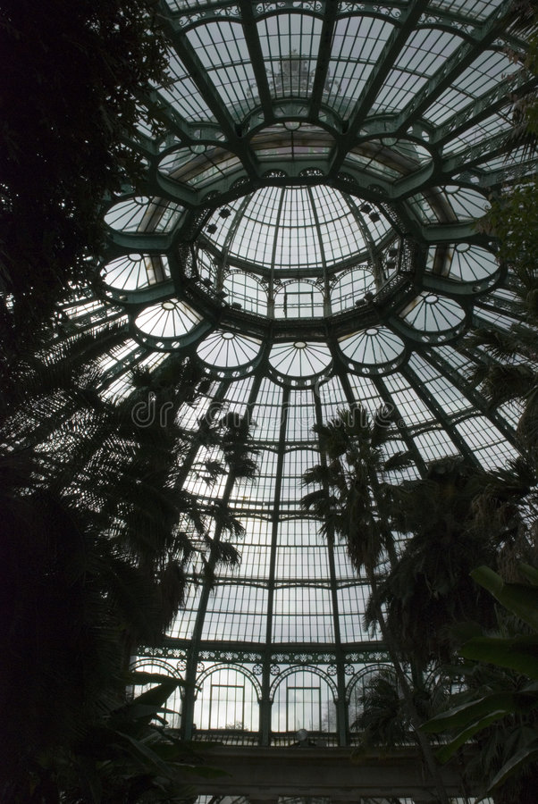 Dome in greenhouse stock image