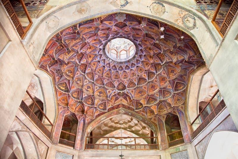 Dome of Hasht Behesht Palace royalty free stock photography