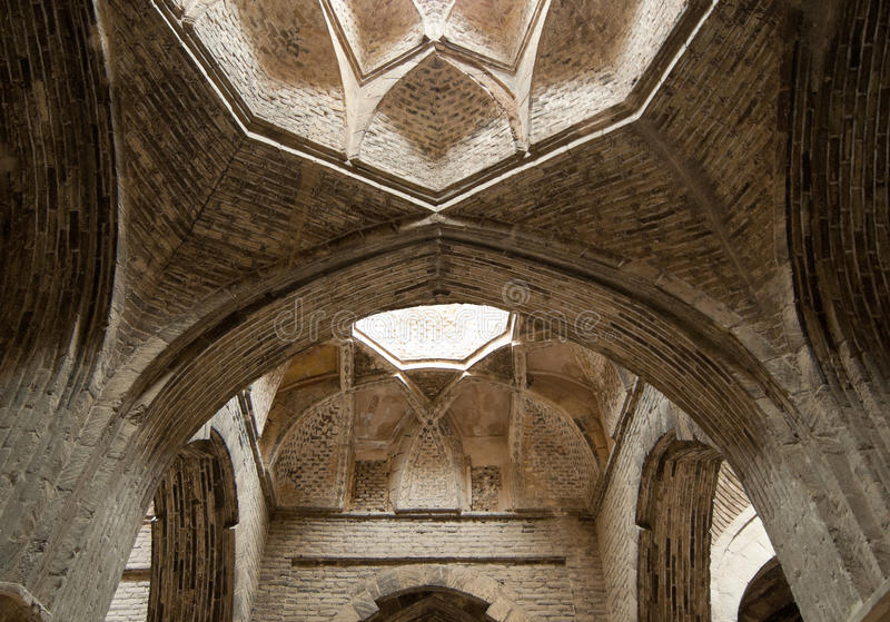 Dome of Jameh or Friday Mosque, Isfahan, Iran royalty free stock photo