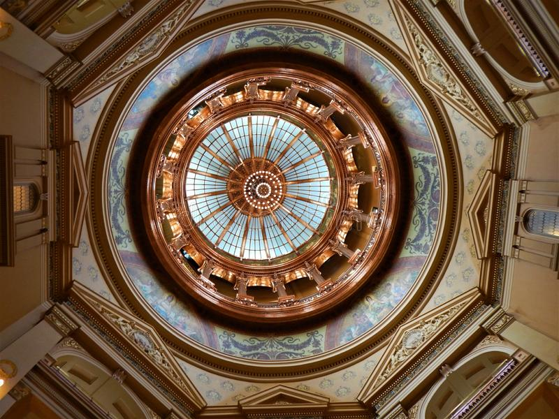 Dome of the Kansas State Capitol royalty free stock images