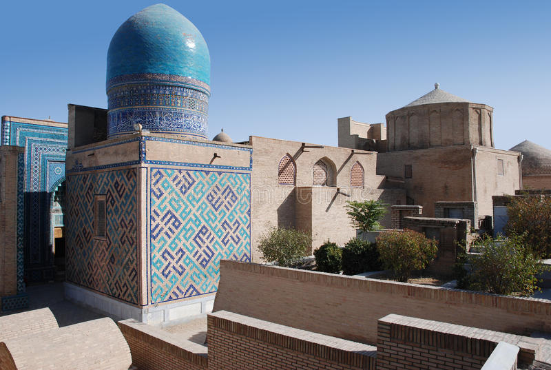 The dome of the mausoleum complex of Shahi Zinda royalty free stock photos