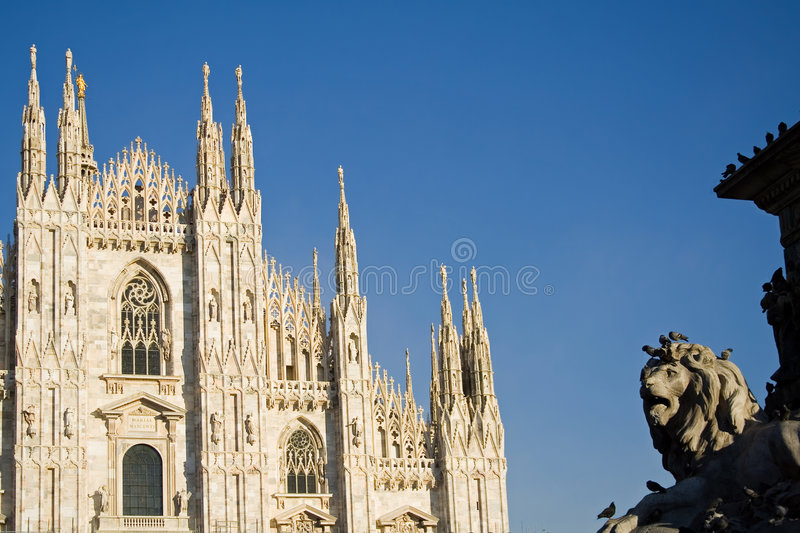 The dome of Milan In Italy royalty free stock photos