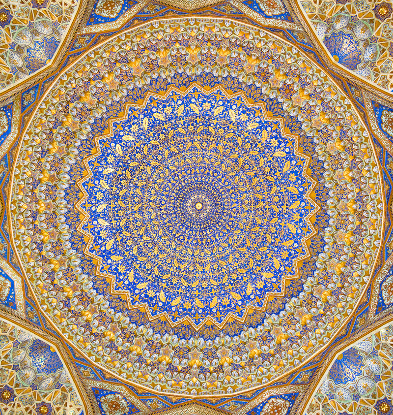 Dome of the mosque stock photo