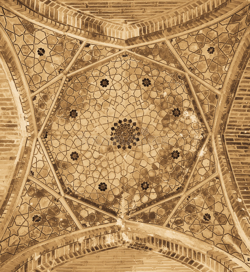 Dome of the mosque stock images
