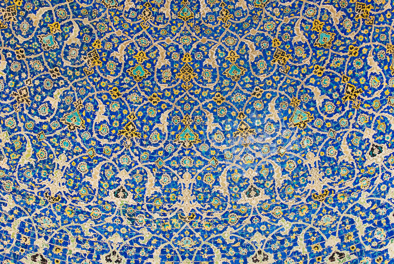 Dome of the mosque, oriental ornaments, Isfahan stock photos