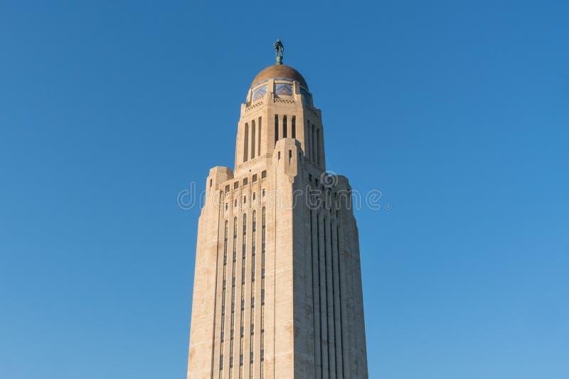 Dome of the Nebraska Capitol Building stock image