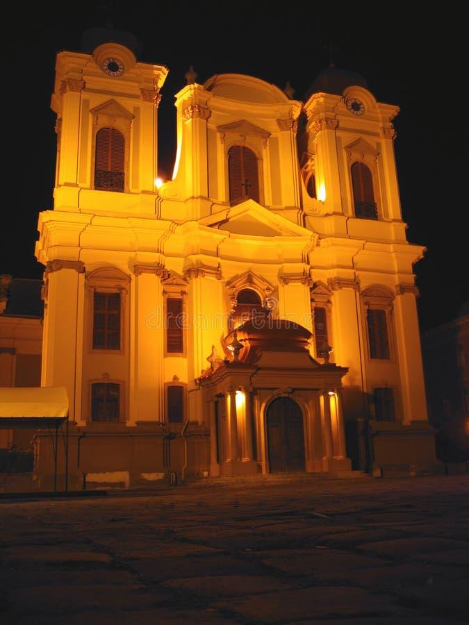 The Dome at Night, Timisoara, Romania royalty free stock photography