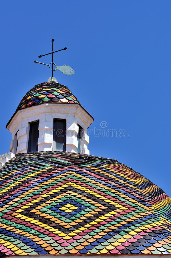 Free Dome Of The Church Of San Michele, Alghero, Sardinia, Italy Royalty Free Stock Photo - 29523115