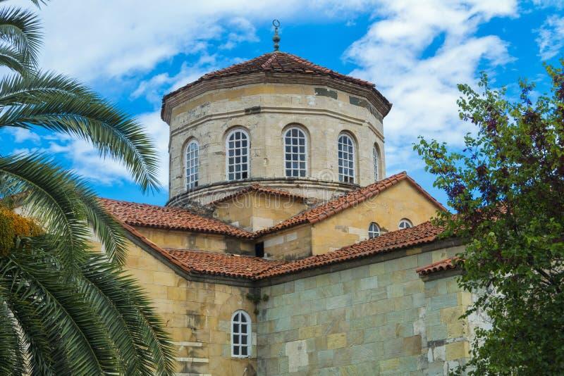 Dome ofHagia Sophia Museum Trabzon, north eastern turkey royalty free stock photo