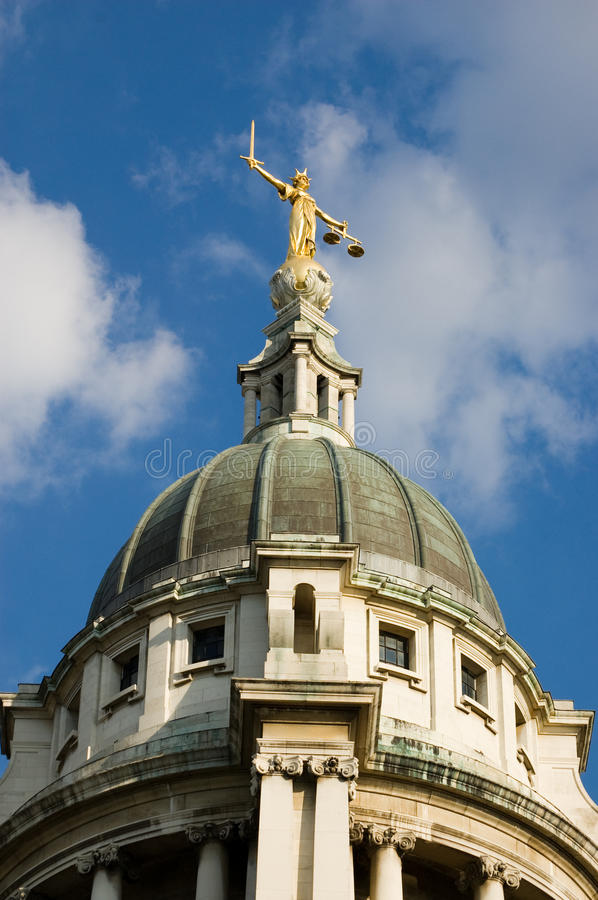 Download Dome Of The Old Bailey Royalty Free Stock Photos - Image: 14528948