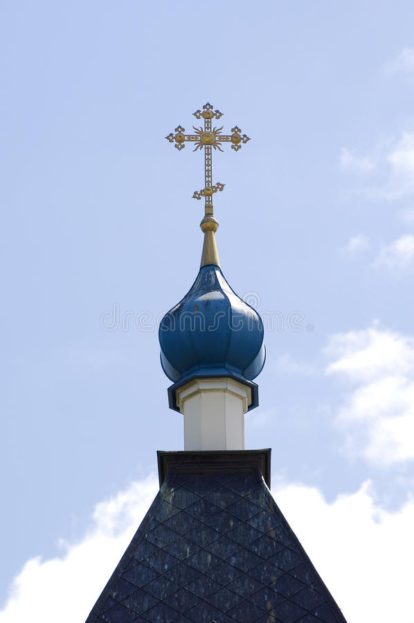 Dome of the Orthodox church royalty free stock photos
