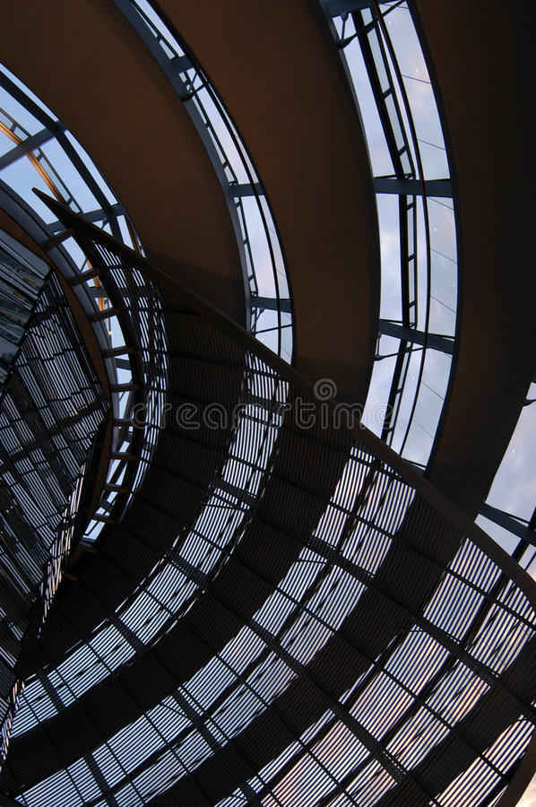 Dome of the Reichstag stock image