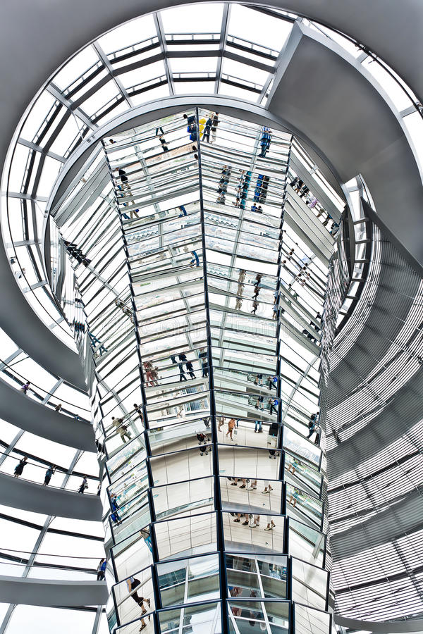 Dome Reichstag berlin germany royalty free stock image