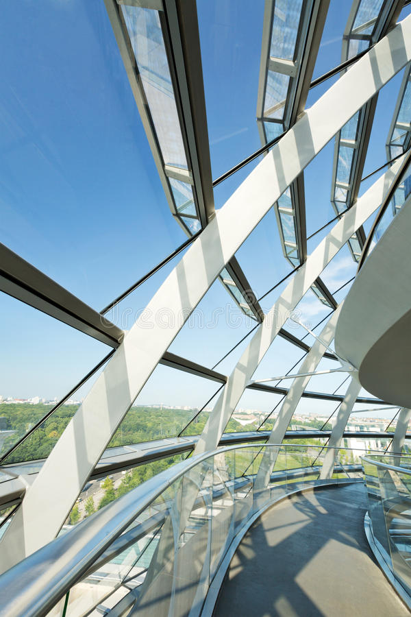 Dome of the Reichstag building in Berlin, Germany royalty free stock photos