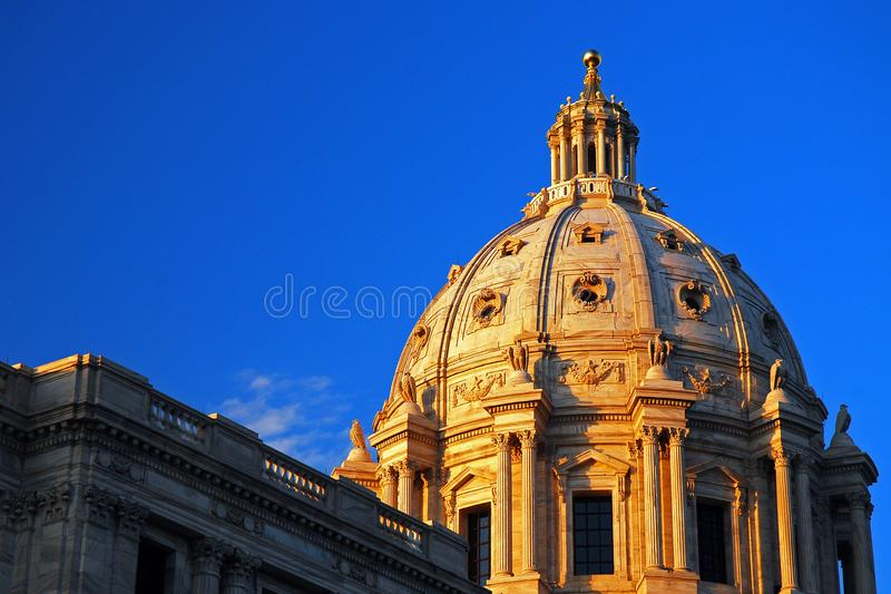 Minnesota State Capitol, St. Paul, Minnesota. The dome rises above the Minnesota State Capitol, in St. Paul, Minnesota royalty free stock images