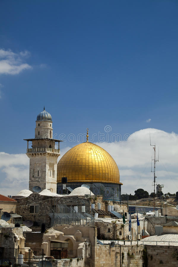 Download Dome of the Rock stock photo. Image of dome, gold, daylight - 29881018