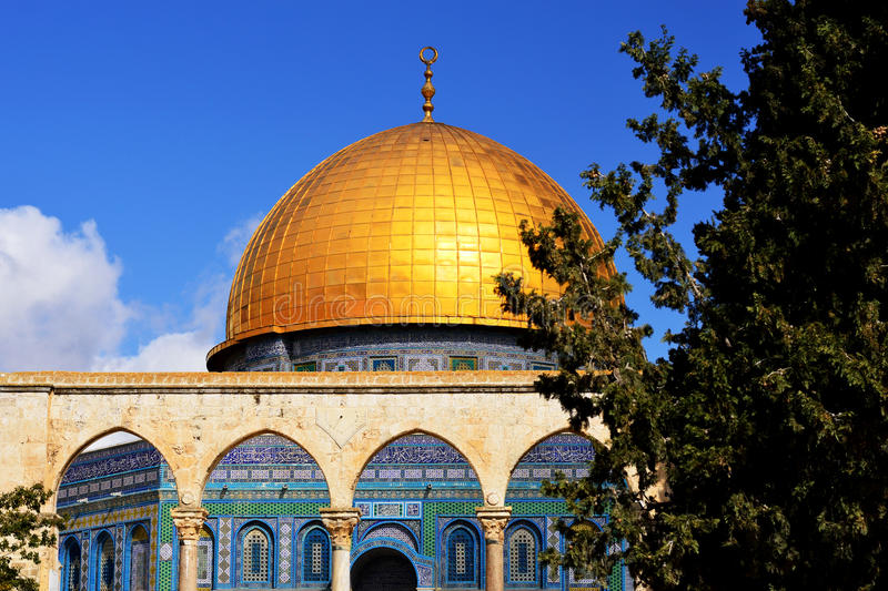 Dome of the Rock in Jerusalem - detail stock images