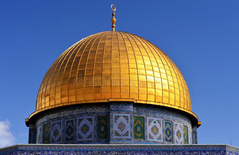 Dome of the Rock in Jerusalem - detail stock photography
