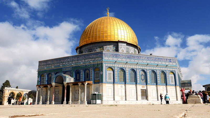 Dome of the Rock in Jerusalem over Temple Mount stock photos
