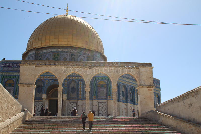 Dome of the Rock - Temple Mount - Jerusalem - Israel royalty free stock image