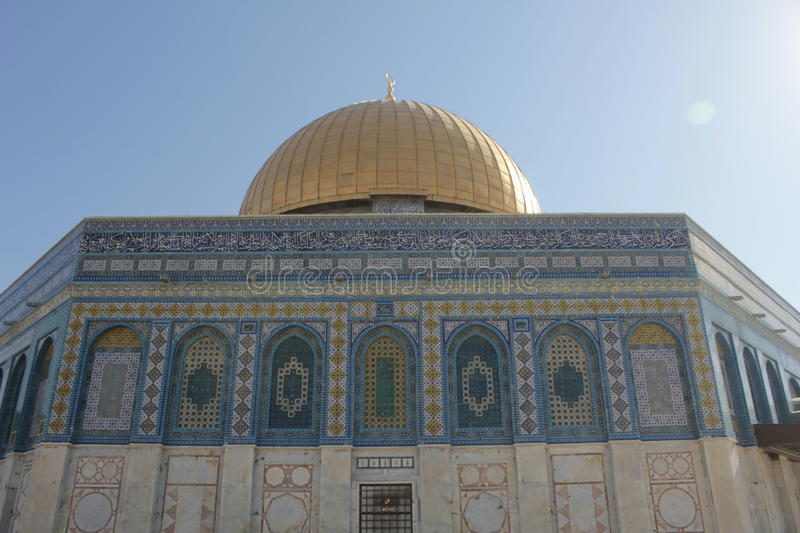 Dome of Rock in the Temple Mount in Jerusalem royalty free stock photography