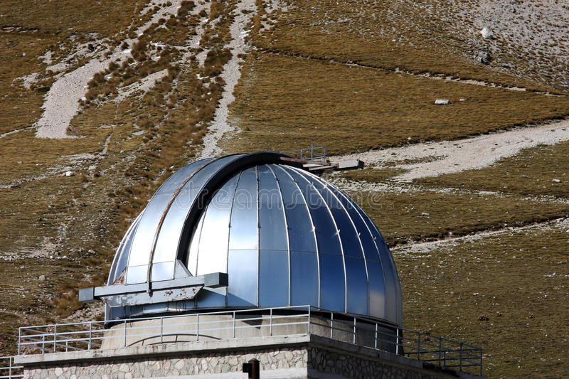 Dome of Rome Observatory, Gran Sasso Park, Italy royalty free stock image