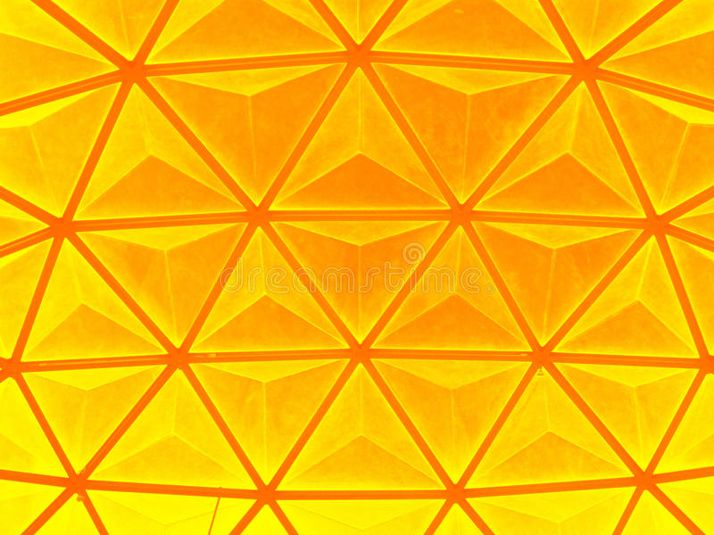 Dome roof. Yellow dome roof background texture stock photography