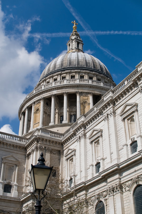 The dome of Saint Pauls cathedral stock images