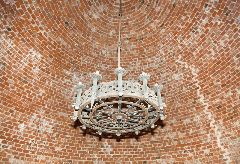 Medieval Castle Chandelier royalty free stock photos